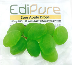 Edipure Sour Apple Drops